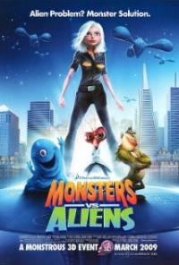 Monsters vs Aliens movie poster